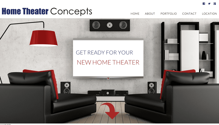 Website Design For Home Theater Concepts